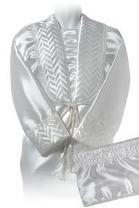 image of CANTERBURY Unisex Satin Quilted 12inch Robe Set