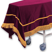Velveteen Chapel Pall &#45; <strong>Maroon</strong>