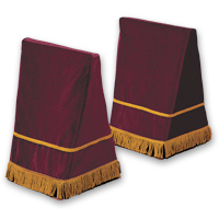 27&quot; Velveteen Trestle Covers &#45; <strong>Maroon</strong>