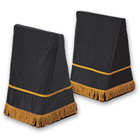 "27"" Velveteen Trestle Covers - <strong>Black</strong>"