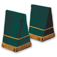 "27"" Velveteen Trestle Covers - <strong>Bottle Green</strong>"