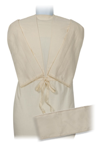 image of NATURAL Unisex Calico 9inch Robe Set