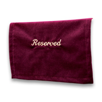 Velveteen Reserved Seat Marker &#45; <strong>Maroon</strong>