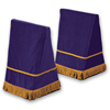 Click to view 27&quot; Velveteen Trestle Covers &#45; <strong>Purple</strong>