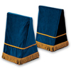 Click to view 27&quot; Velveteen Trestle Covers &#45; <strong>Blue</strong>