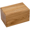 Click to view Vault box 225 solid ashes casket Oak