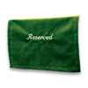 Click to view Velveteen Reserved Seat Marker &#45; <strong>Emerald Green</strong>
